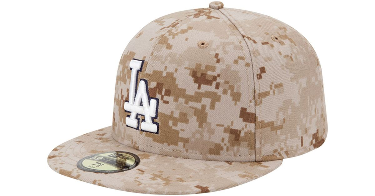 new styles 59b7f 07c64 ... cheap lyst ktz los angeles dodgers mlb memorial day stars stripes  59fifty cap in natural for