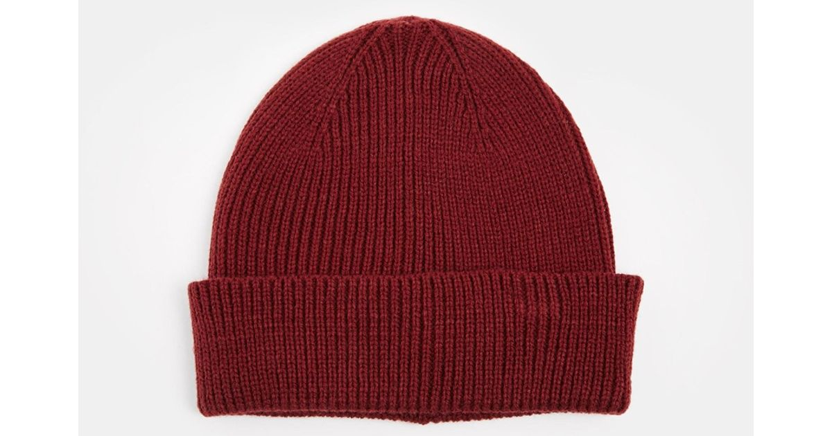 800fff4fb2b Lyst - ASOS Fisherman Beanie Hat In Red in Red for Men
