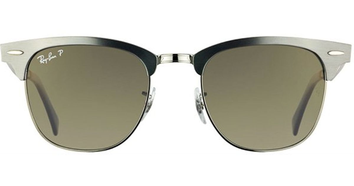 d82a8ddca07 Ray-Ban Ray Ban Rb3507 Aluminum Clubmaster 138 M8 Gunmetal Sunglasses Dark  Grey Polarized Lens-49Mm in Gray - Lyst