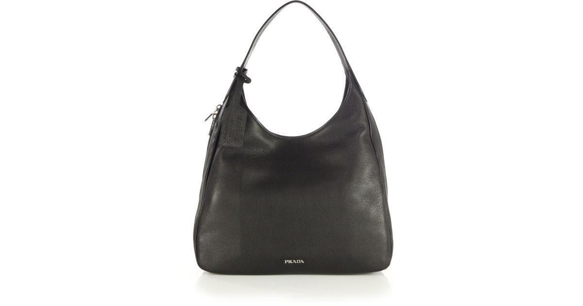 prada arcade bag black