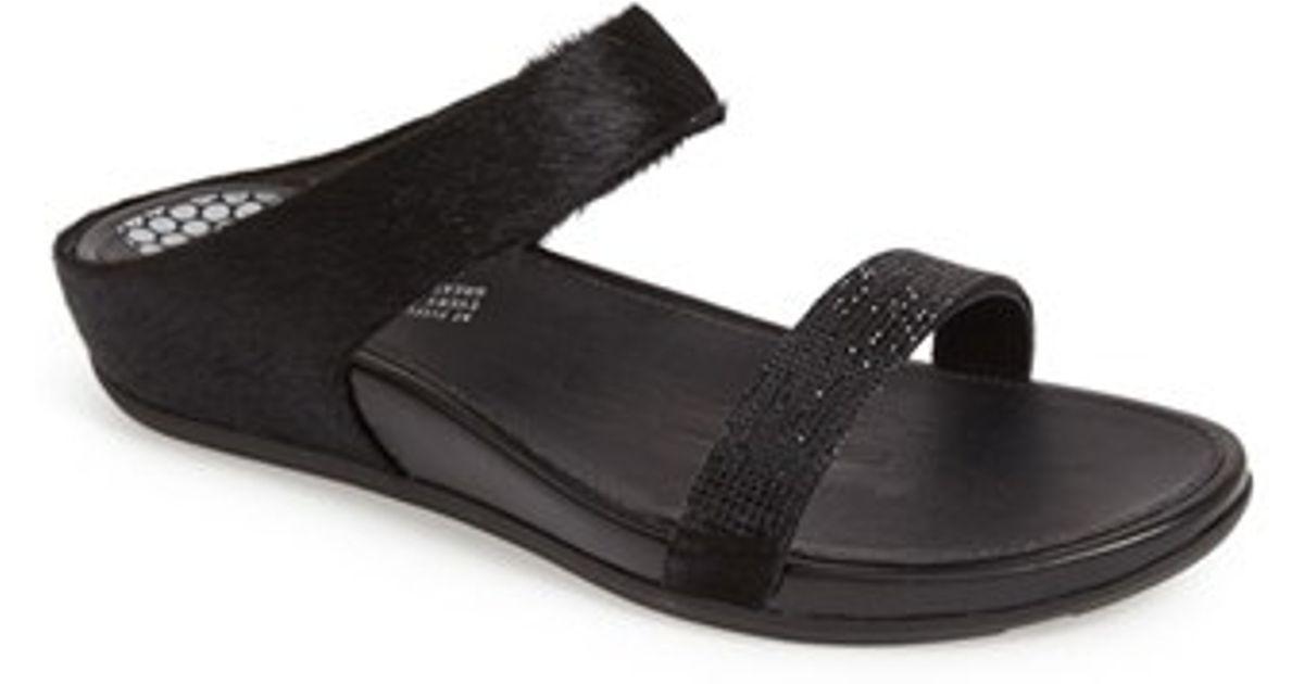 82680d692 Lyst - Fitflop  banda  Calf Hair Slide Sandal in Black