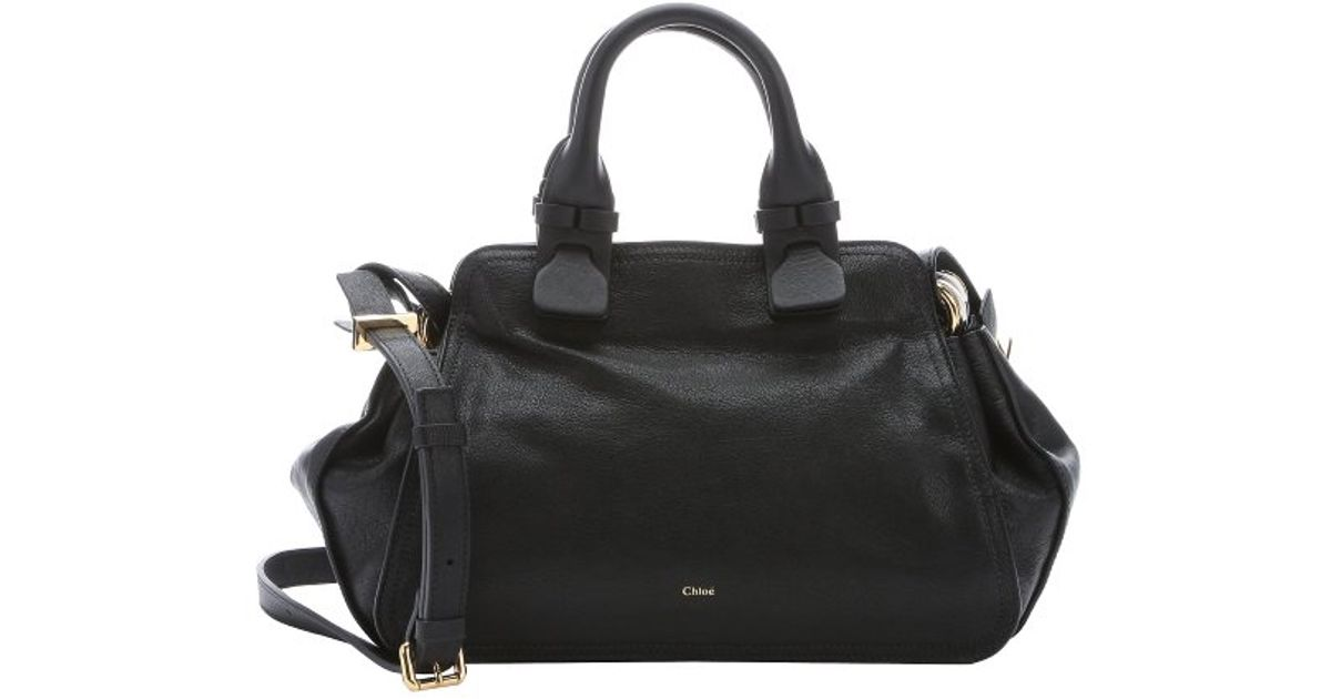 Chlo�� Black Lambskin \u0026#39;fynn\u0026#39; Small Satchel Bag in Black | Lyst