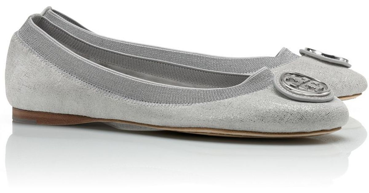 ffce08184099 Lyst - Tory Burch Caroline 2 Metallic Ballet Flat in Metallic