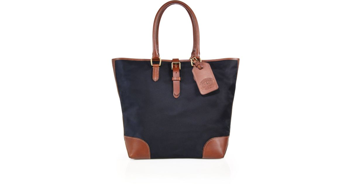Ralph Lauren Tote Laukku : Polo ralph lauren simple nylon tote in blue lyst