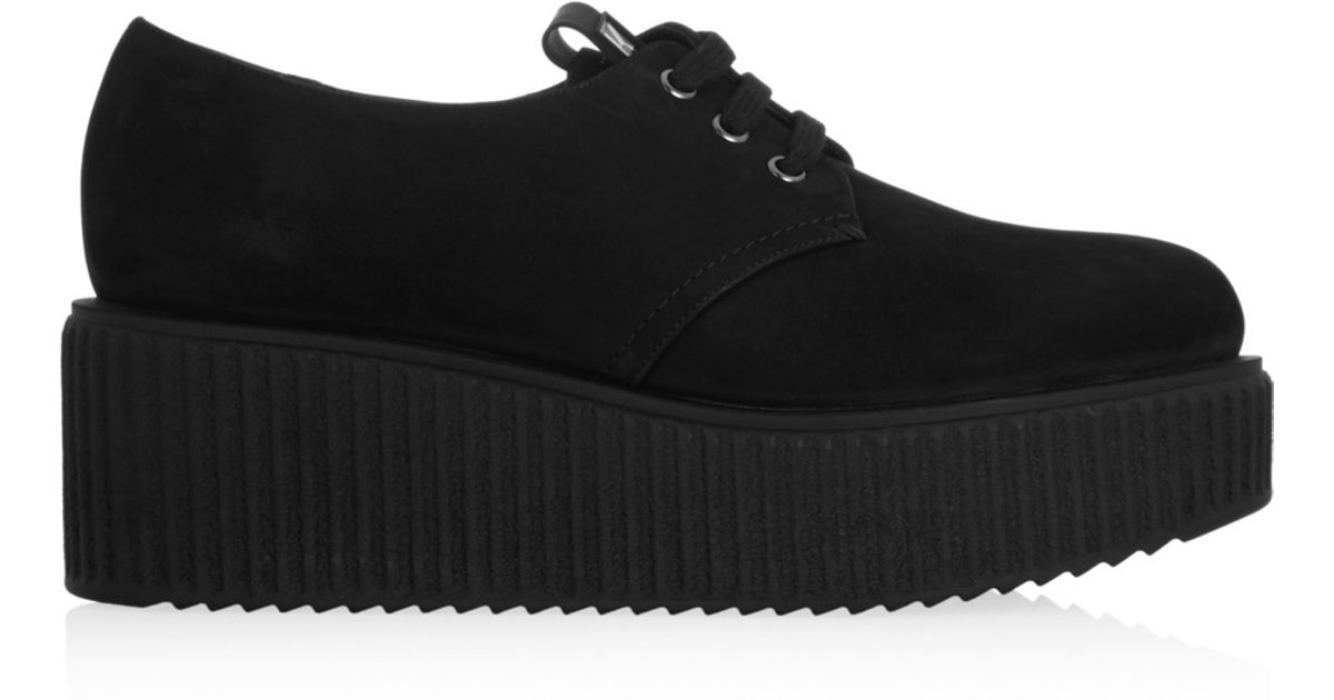 dff75e9ad274 Lyst - Karl Lagerfeld Suede Creepers in Black
