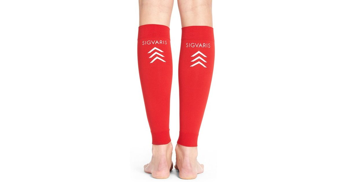 6bee733f2 Lyst - Insignia By Sigvaris  sports  Graduated Compression Performance Calf  Sleeve in Red