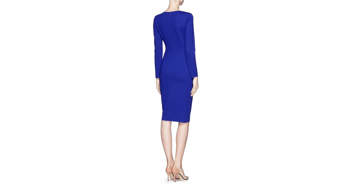 846803aa3d6673 Armani Wrap Dress in Blue - Lyst