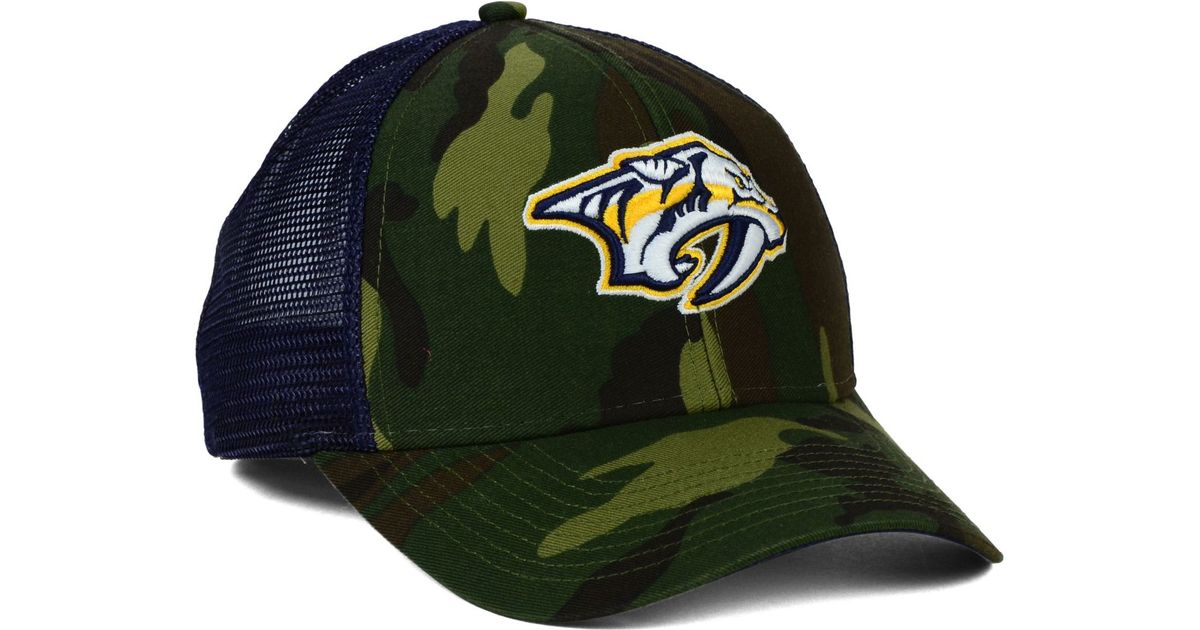 quality design 67f0f 3ae10 ... adidas black laser trucker adjustable snapback hat ea98d 1c3e8  best  lyst reebok nashville predators camo trucker cap in green for men d35cc  22577