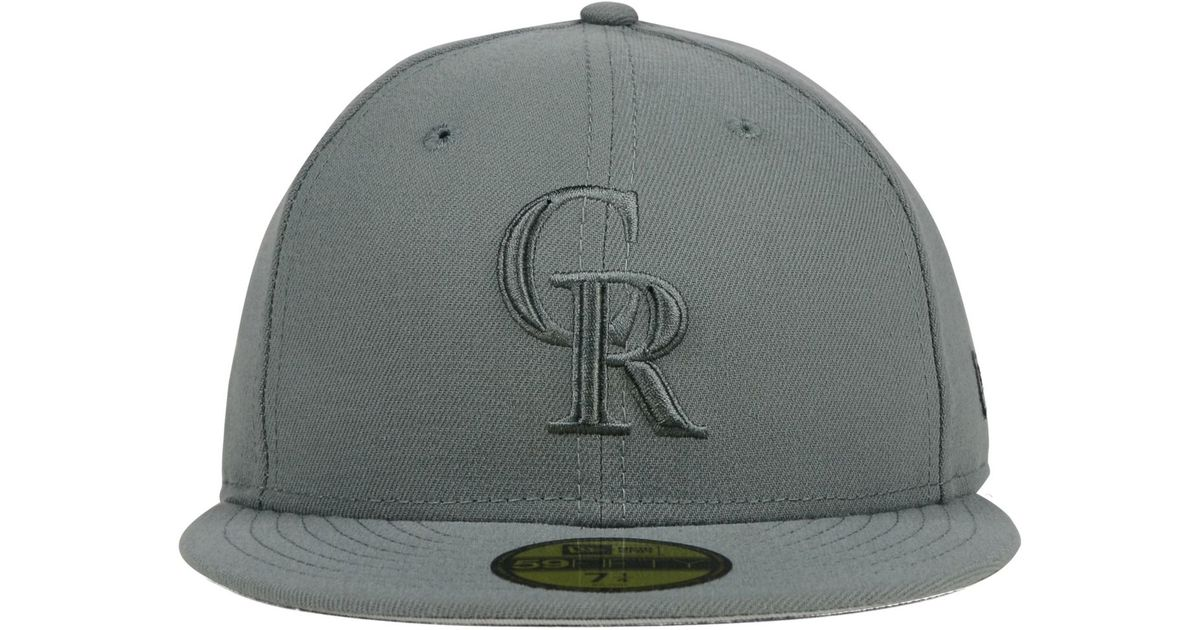 sale retailer 51d9e 7b2f2 Lyst - KTZ Colorado Rockies Ton-wool 59fifty Cap in Gray for Men