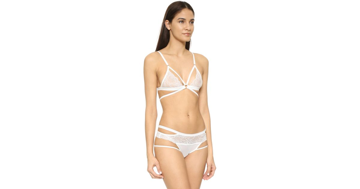 b56cd044db Lyst - Honeydew Intimates Lucy Lace Bralette in White