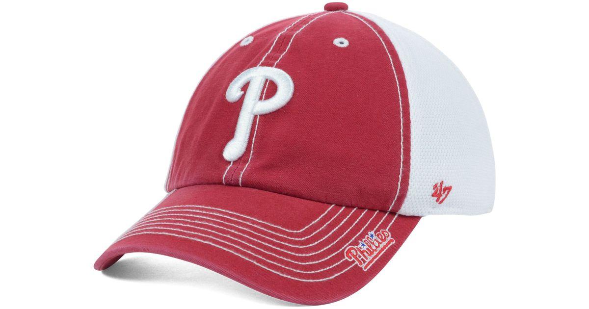 d13041fbfa0 Lyst - 47 Brand Philadelphia Phillies Mlb Ripley Cap in Red for Men