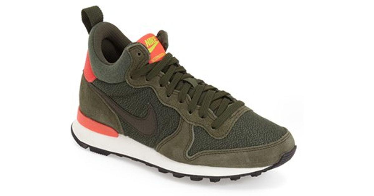 buy online e4439 7a052 ... clearance lyst nike internationalist mid sneaker in green ff014 301f5