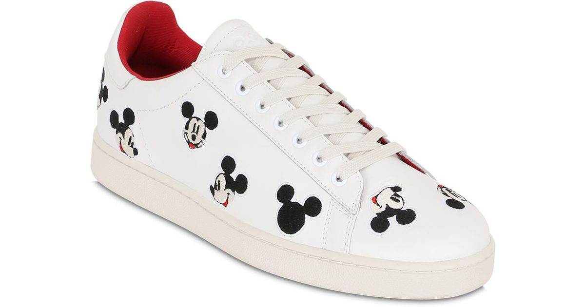 d4beed0370b8 Lyst - MOA Mickey Mouse Leather Sneakers in White for Men