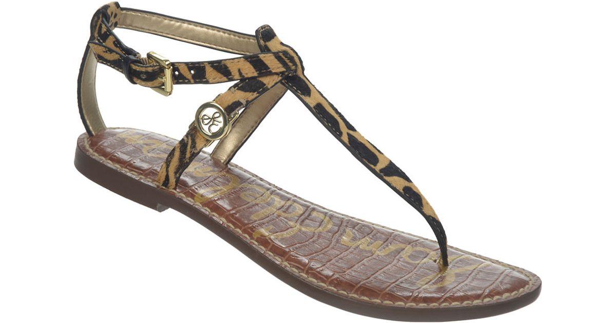 4efe6259e6cd Sam Edelman Galia Leopard-print Brahman Hair Sandals in Brown - Lyst