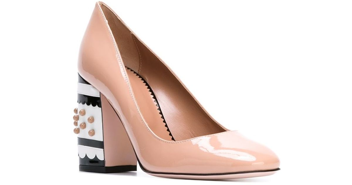 7203284d5cc Lyst - RED Valentino Chunky Heel Pumps in Pink