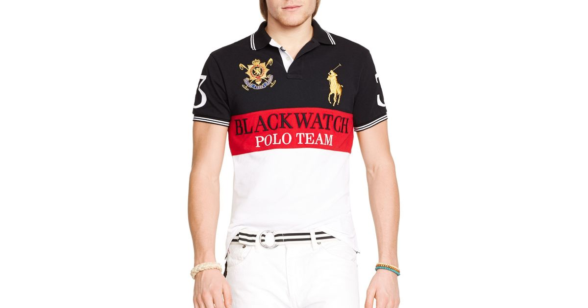 Lyst Ralph Lauren Polo Black Watch Custom Fit Color Blocked Polo