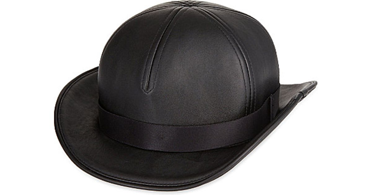 22c2caa236 KTZ Leather Bowler Hat in Black for Men - Lyst