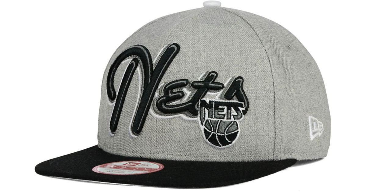 low priced 25796 ff085 Lyst - KTZ New Jersey Nets Hwc The Heather Bright Nights 9fifty Snapback Cap  in Black for Men