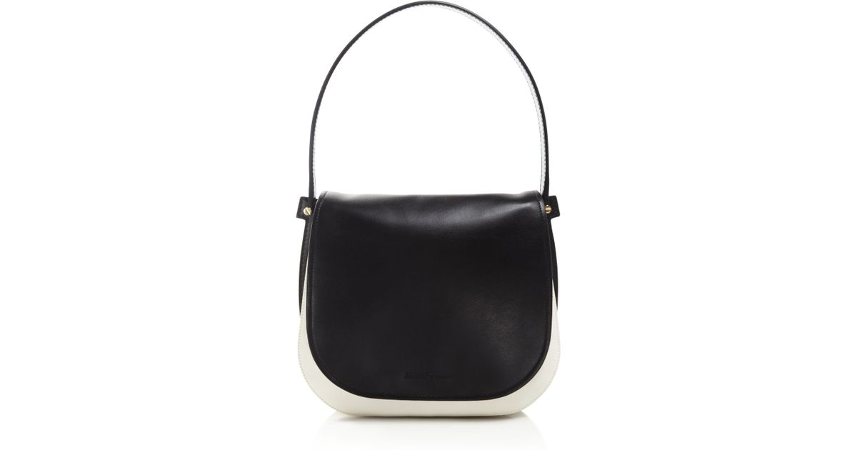 aab257264862 Lyst - Ferragamo Neva Shoulder Bag in Black