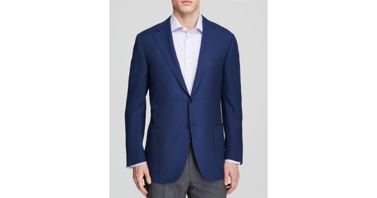 Canali Micro Dot Travel Sport Coat - Classic Fit in Blue for Men ...