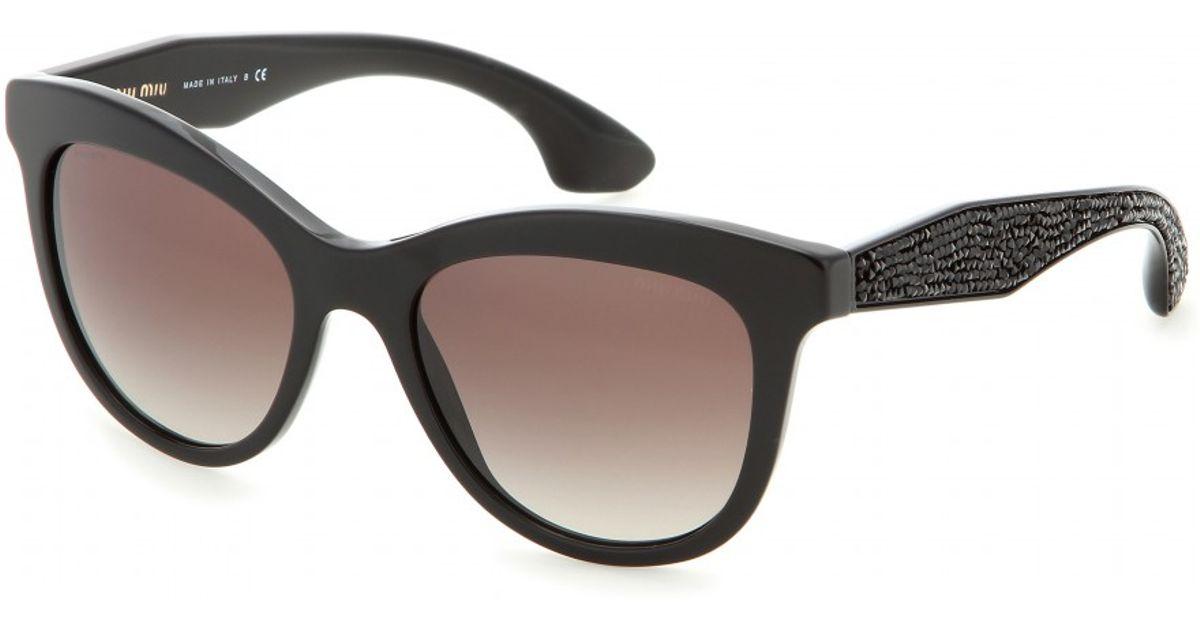 Lyst - Miu Miu D-Frame Sunglasses in Black
