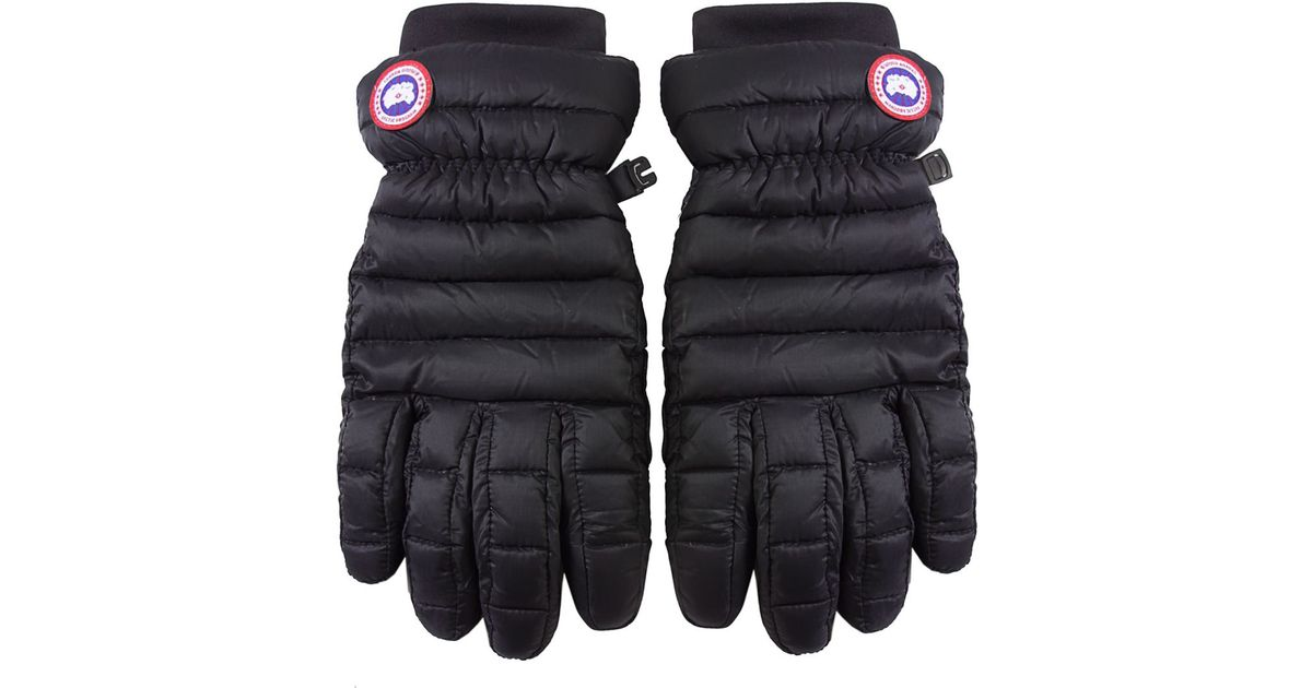 Canada Goose mens sale fake - Canada goose Lightweight Down Gloves in Black for Men | Lyst