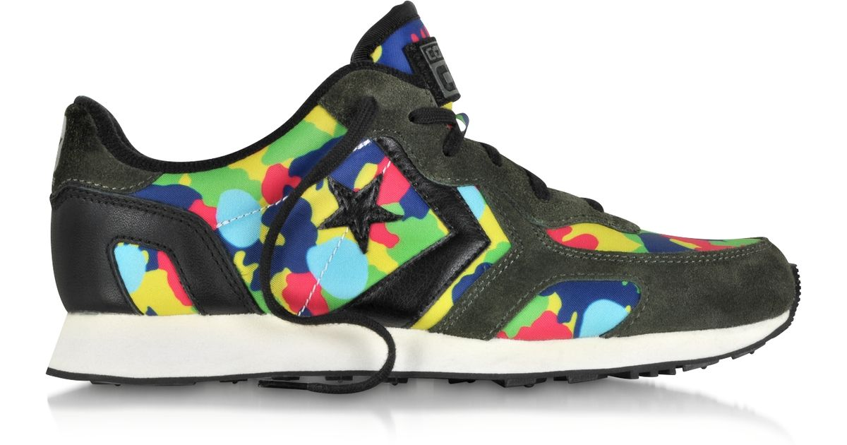 Lyst - Converse Auckland Racer Ox Camo Colors Print Nylon And Suede Sneaker  in Green for Men 69547f225