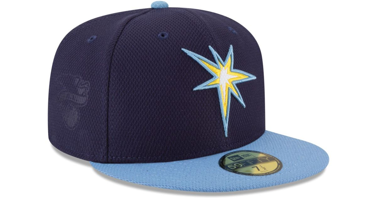 brand new 5d8e8 06cd9 Lyst - KTZ Kids  Tampa Bay Rays Diamond Era 59fifty Cap in Blue for Men