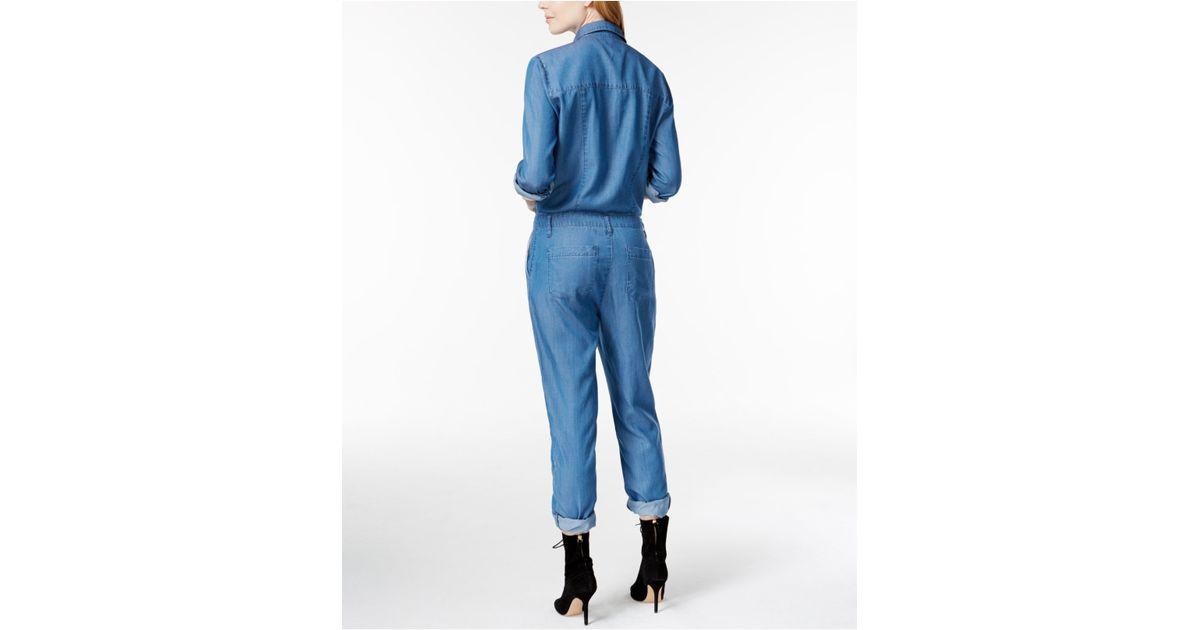 92b67cd3caf Lyst - RACHEL Rachel Roy Jackson Denim Jumpsuit in Blue