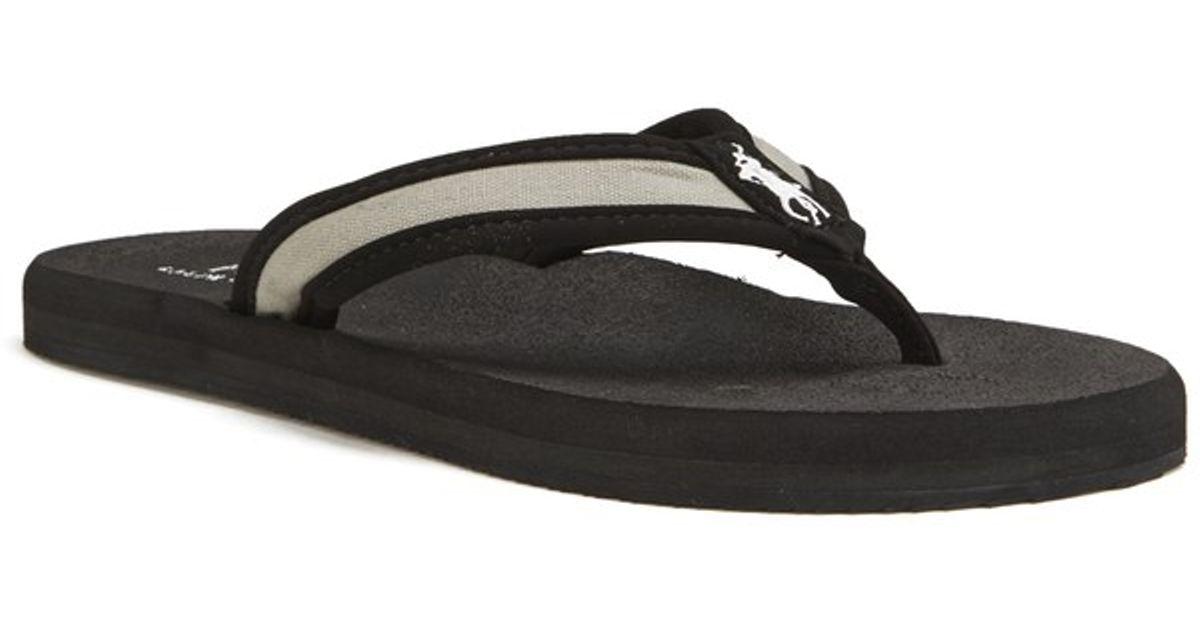 Polo Ralph Lauren Men s Almer Ii -ne Flip Flops in Black for Men - Lyst f153e6595f0