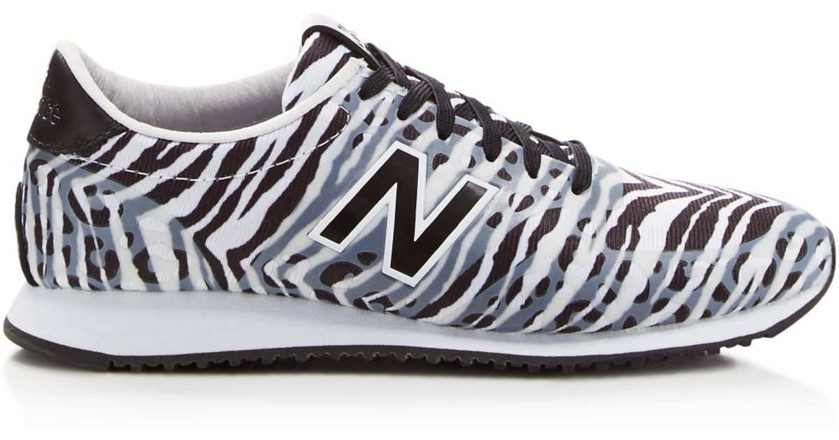 ... large discount aeefd 4588f Lyst - New Balance 420 Zebra-Print Mesh  Low-Top ... 9a38a0b4794f