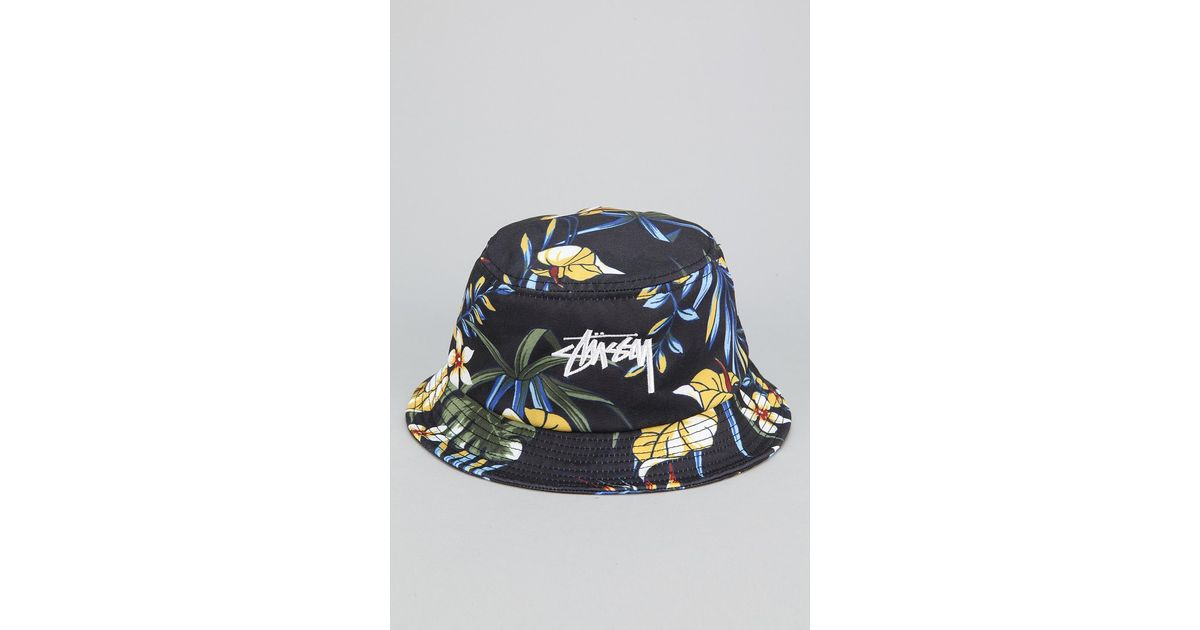 Lyst - Stussy Paradise Bucket Hat in Black for Men 4df27aeb77fe