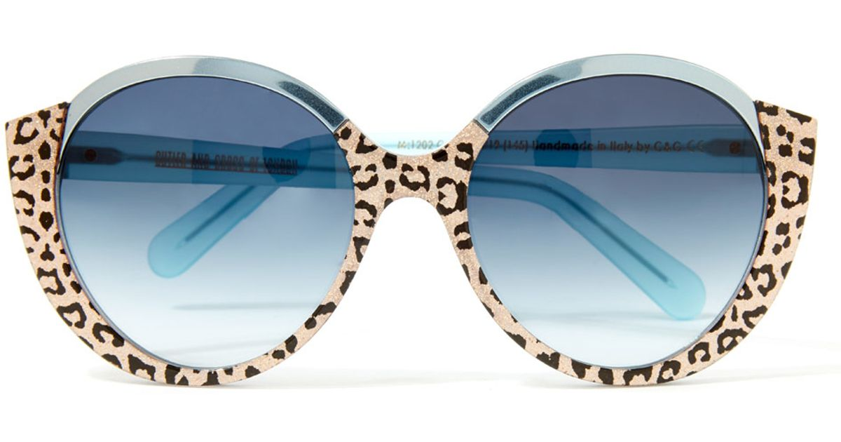 d44a6ce7ac Lyst - Cutler   Gross Turquoise 1202 Sunglasses in Blue