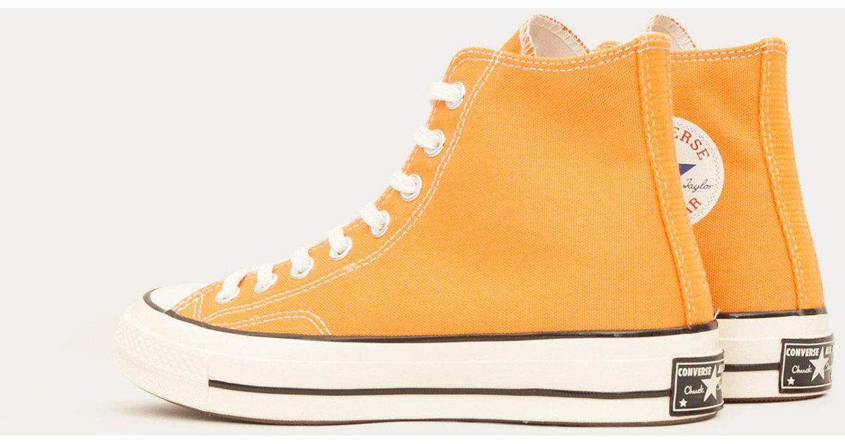 839ce874b1f2 Converse Chuck Taylor All Star 70 Hi in Orange for Men - Lyst