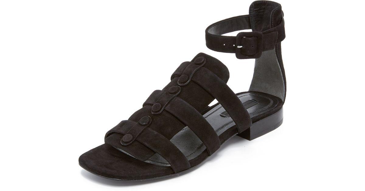 63568b267bd Lyst - Alexander Wang Mallory Gladiator Sandals in Black