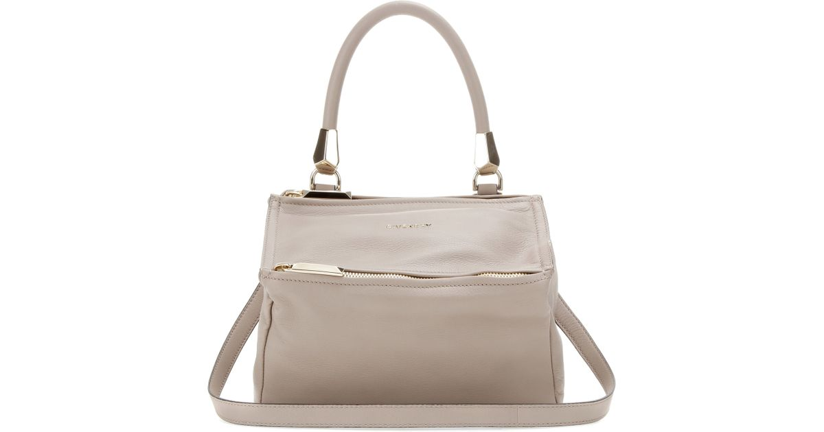d9b1698858 Lyst - Givenchy Pandora Small Leather Shoulder Bag in Gray