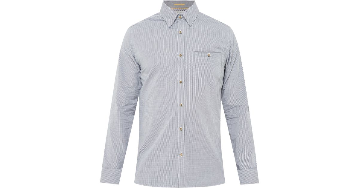 644aabac469b38 Ted Baker Twosoft Micro Check Shirt in Gray for Men - Lyst