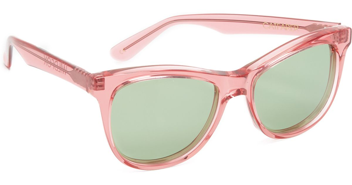 wildfox catfarer sunglasses in green rosewater green lyst