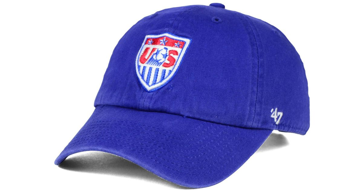 Lyst - 47 Brand Usa Soccer Clean Up Cap in Blue for Men de2e8614390