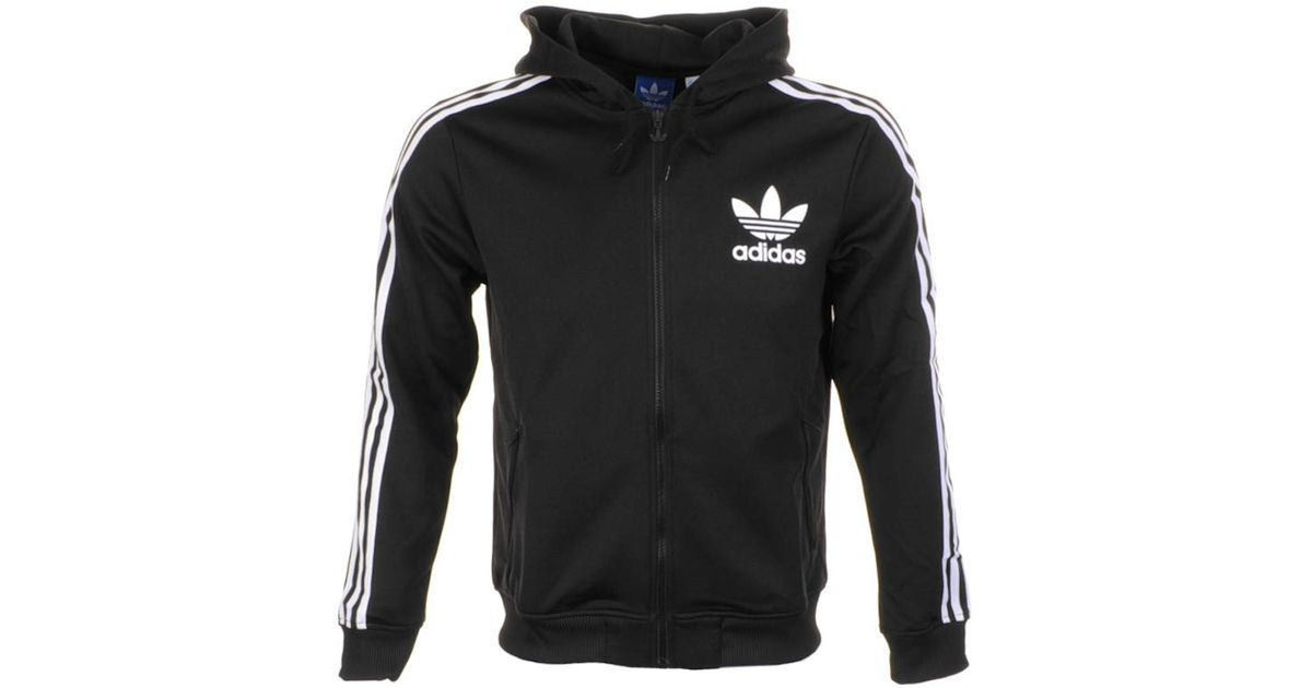 59f74227c0c4 adidas Originals Adi Hooded Flock Jumper in Black for Men - Lyst