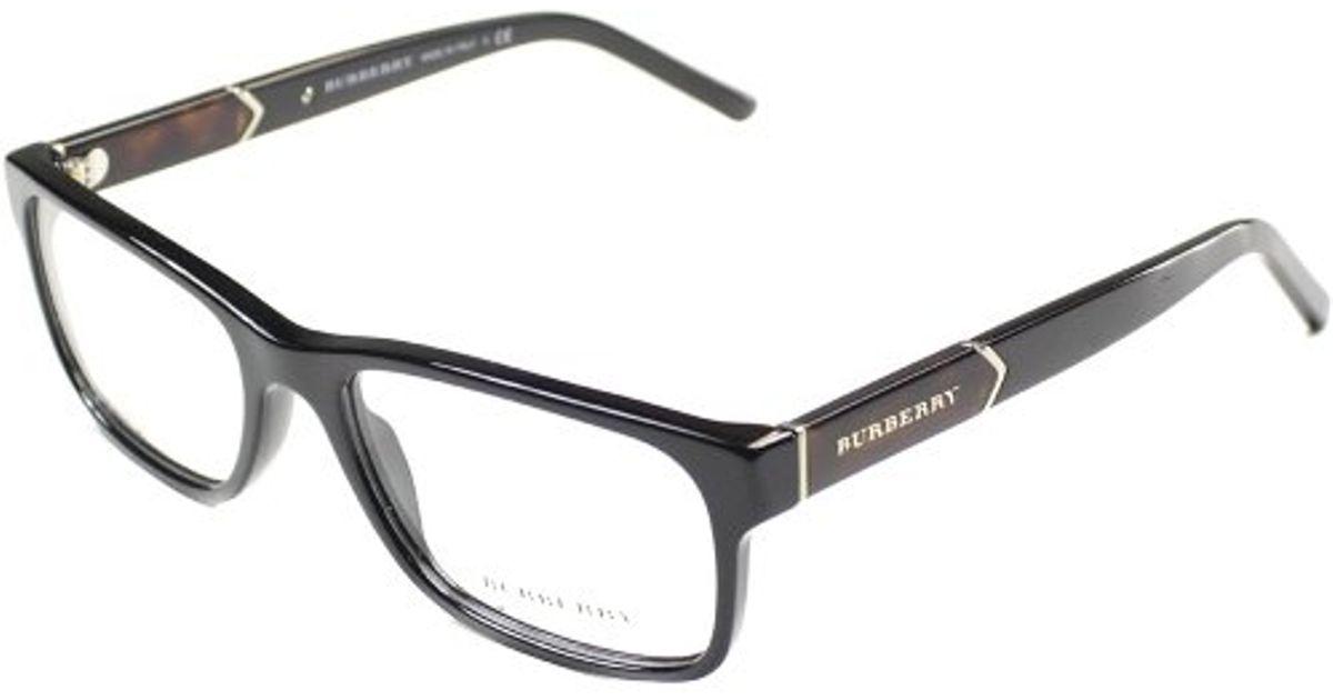 Burberry Be 2150 3001 Shiny Black Rectangle Plastic ...