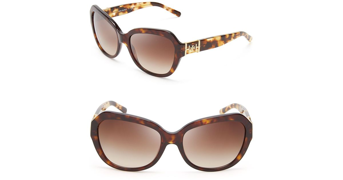 117113382f Lyst - Tory Burch Oversized Sunglasses in Brown