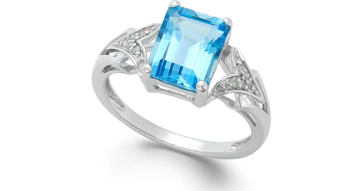 macy s emerald cut blue topaz 2 1 2 ct t w and