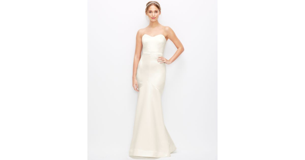 Lyst - Ann Taylor Duchess Satin Strapless Wedding Dress in Natural