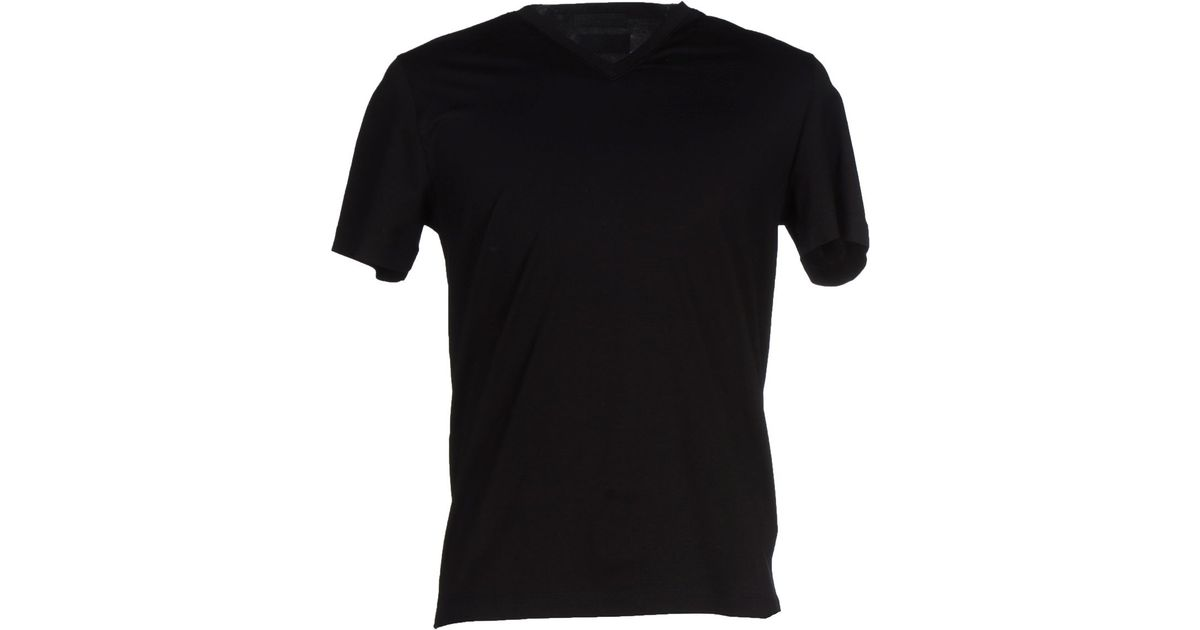5bafdaa2b66b9 Prada T-shirt in Black for Men - Lyst