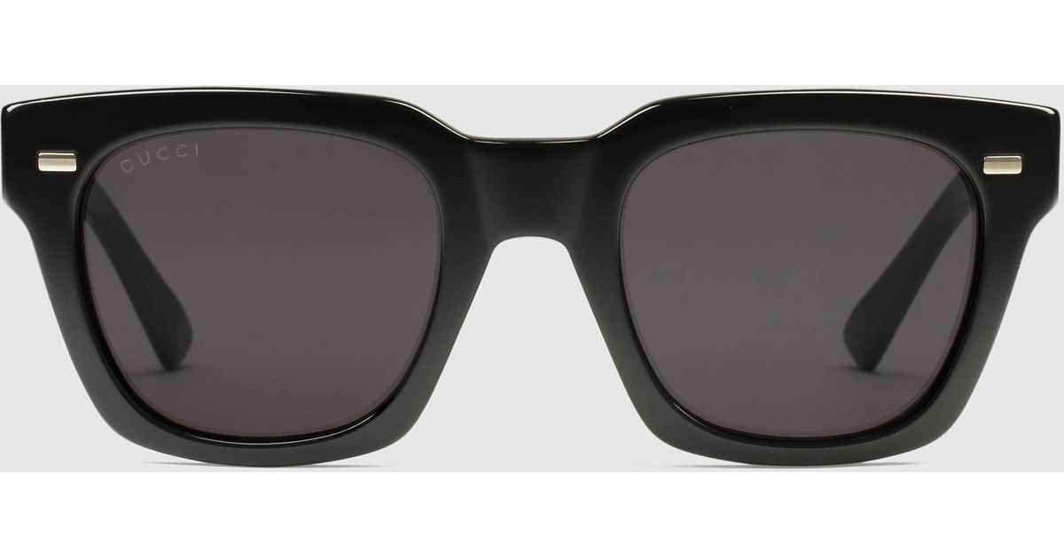 754afab4448 Lyst - Gucci Havana Square-frame Sunglasses in Black