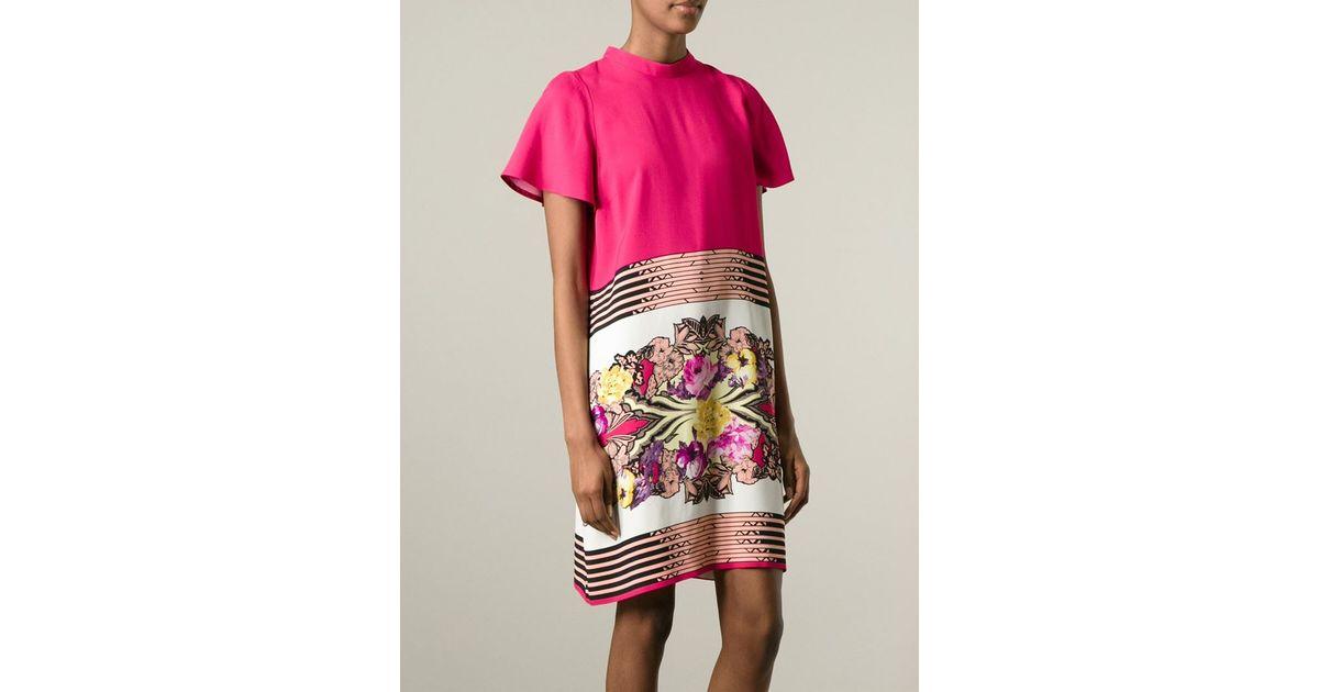 7ac9a2f20481c Lyst - Etro Floral Print Shift Dress