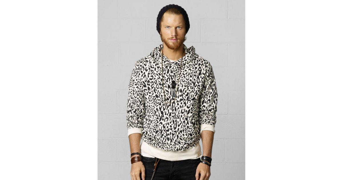 964217554c24 Denim & Supply Ralph Lauren Snow Leopard Hoodie in Black for Men - Lyst