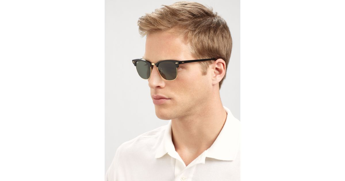 ray ban classic clubmaster black  Ray-ban Classic Clubmaster Sunglasses in Black for Men