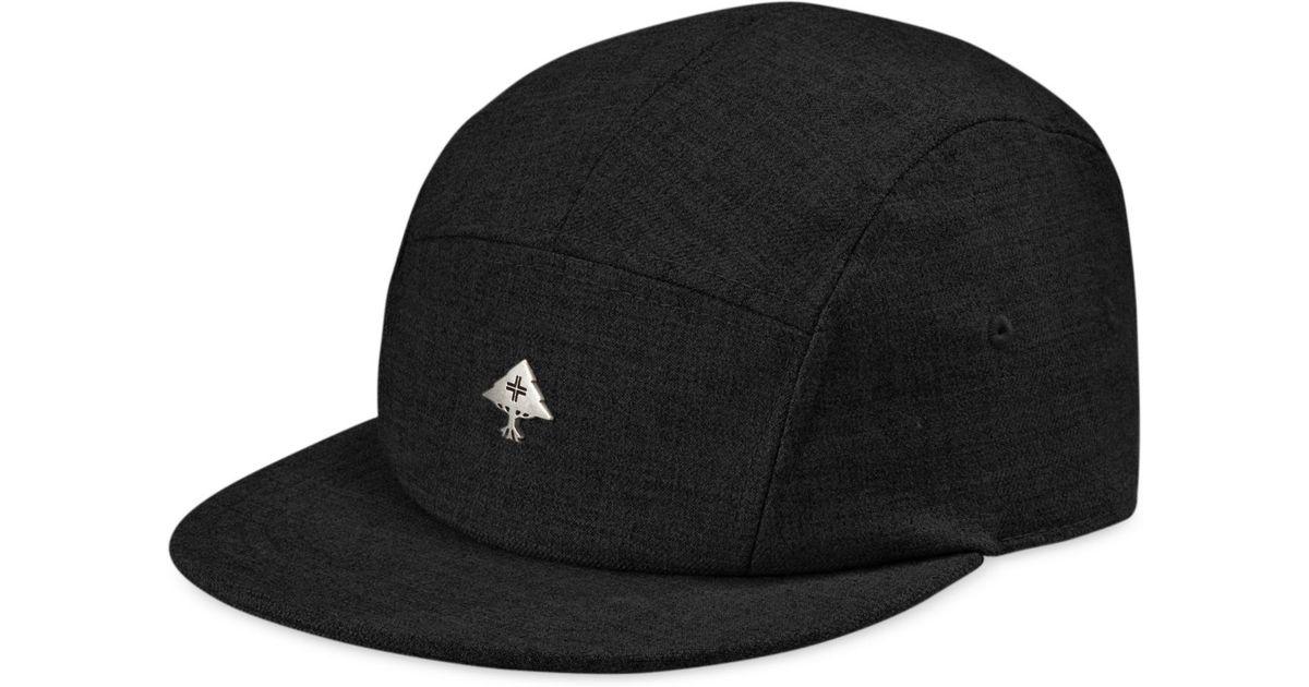 2cabd6d40c2 Lyst - LRG Solid 5-Panel Hat in Black for Men